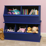 Badger Basket Three Bin Storage Cubby in Blue