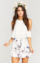 MUMU Skater Stretch Skirt ~ Bouquet Beauty