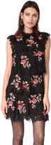 Rebecca Taylor Sleeveless Dress with Embroidery