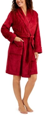 Charter Club Short Floral Cozy Robe, Created for Macy's