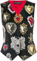 Dolce & Gabbana heart motif waistcoat