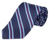 Brooks Brothers Navy Striped Houndscheck Silk Tie.
