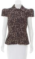 Michael Kors Floral Pattern Short Sleeve Jacket