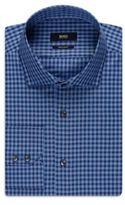 Hugo Boss Gordon Regular Fit, Cotton Linen Dress Shirt 16 Blue