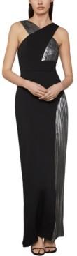 BCBGMAXAZRIA Metallic Crepe Gown