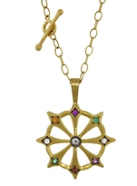 Cathy Waterman Wheel Of Fortune Charm - Yellow Gold