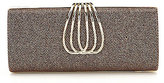 Kate Landry Bangle-Clasp Metallic Frame Clutch