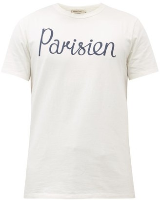 MAISON KITSUNÉ Parisien-printed Cotton-jersey T-shirt - Cream