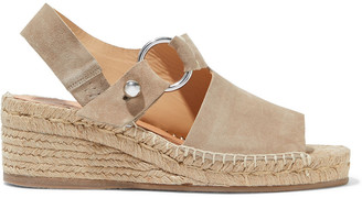 Rag & Bone Arc Suede Espadrille Wedge Sandals