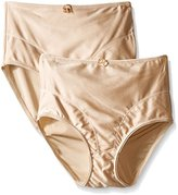 Exquisite Form Women's Medium Control Shaper Brief Panty(Pack of 2)