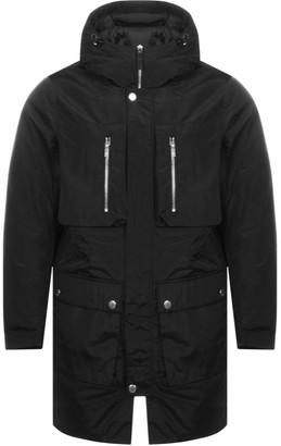 Armani Exchange Long Trench Jacket Black