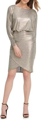 Vince Camuto Dolman Sleeve Dress With Wrap Skirt