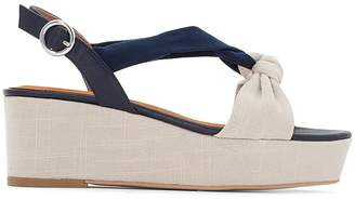 La Redoute Collections Knotted Wedge Sandals