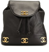 Chanel Pre Owned 1990s CC turn-lock drawstring backpack