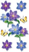 Jolees Jolee's Boutique Vellum Layered Dimensional Stickers, Flowers