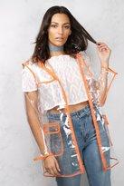 Rare Clear and Orange Transparent Rain Mac