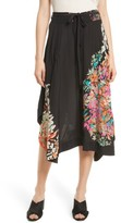 Tracy Reese Women's Smocked Waist Silk Skirt