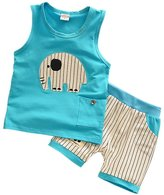 Charberry Toddler Kids Baby Boy Cartoon T-shirt Tops+Pants Elephant Outfits (24M, )