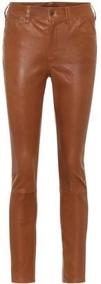 Polo Ralph Lauren Leather high-rise slim pants
