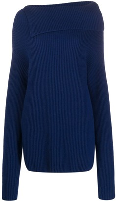 Nina Ricci Asymmetric Ribbed Jumper