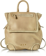 Jerome Dreyfuss Bernard Mastic Gray Leather Backpack