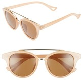 Leith Women's 50Mm Brow Bar Sunglasses - Taupe Gold