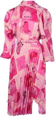 Balenciaga Twisted Pleats Dress