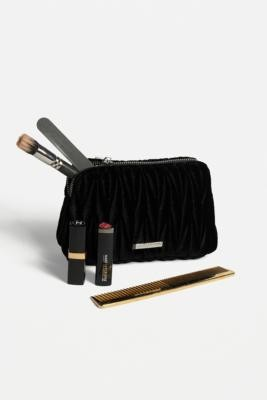 Urban Outfitters Ruched Velvet Makeup Bag - Black ALL at