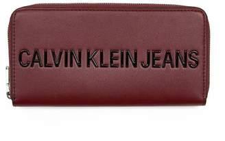 Calvin Klein Burgundy Zip Wallet
