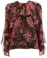 Giambattista Valli petals printed ruffled blouse
