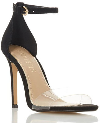 Head Over Heels Micah Perspex High Heel Ankle Strap Sandals