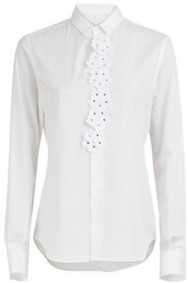 Noir Kei Ninomiya Moncler Genius 6 Moncler flower applique shirt