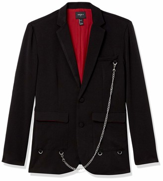 Forever 21 Men's Curb Chain Buttoned Blazer
