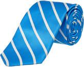 Ike Behar Blue Sunday Stripe Silk Tie