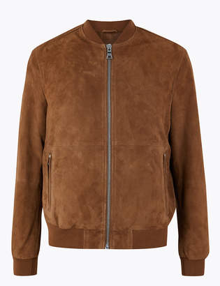 M&S CollectionMarks and Spencer Suede Baseball Jacket