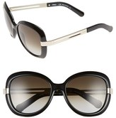 Chloé Women's 'Bianca' 57Mm Oversized Sunglasses - Black