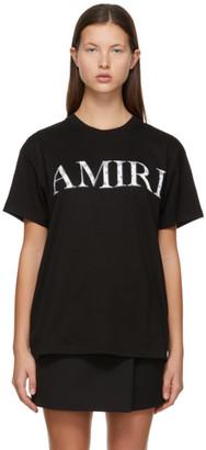 Amiri Black Bandana Logo T-Shirt
