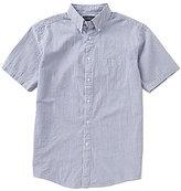 Roundtree & Yorke Short-Sleeve Seersucker Striped Shirt