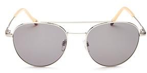 Le Specs Luxe Men's Savage Brow Bar Aviator Sunglasses, 54mm