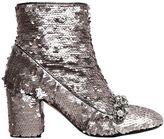 N°21 70mm Embellished Sequins Ankle Boots