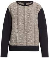 Tibi Cable Jacquard Sweatshirt
