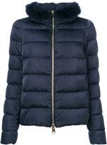 Herno fur-trim padded jacket - women - Feather Down/Fox Fur/Polyamide/Polyester - 38