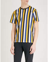Sandro Striped cotton-jersey T-shirt