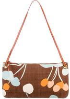 Miu Miu Abstract Cherry Print Woven Bag