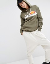 Ellesse Classic Oversized Pullover Hoodie With Front Logo
