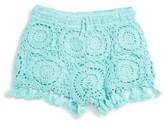 Flowers by Zoe Girl's Crochet Shorts