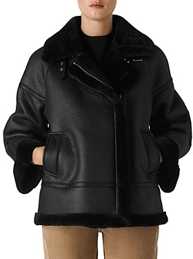 Whistles Ultimate Faux-Shearling Biker Jacket
