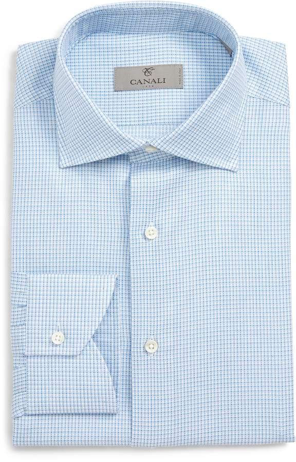 Canali Regular Fit Check Dress Shirt