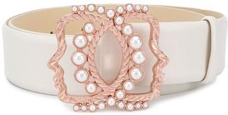 VIVETTA Faux-Pearl Embellished Belt