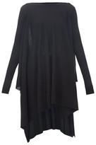 Rick Owens Handkerchief-hem Merino-wool Poncho - Womens - Black